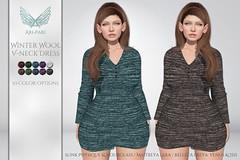 [Ari-Pari] Winter Wool V-Neck Dress