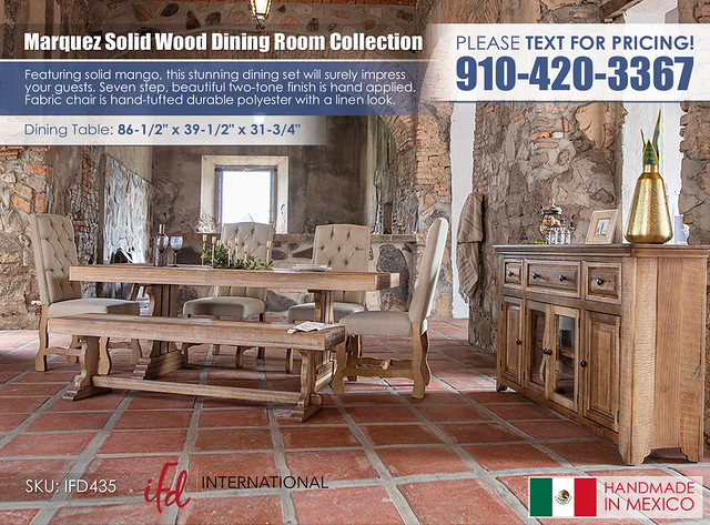Marquez Solid Wood Dining Room Collection_IFD_435_ALT2