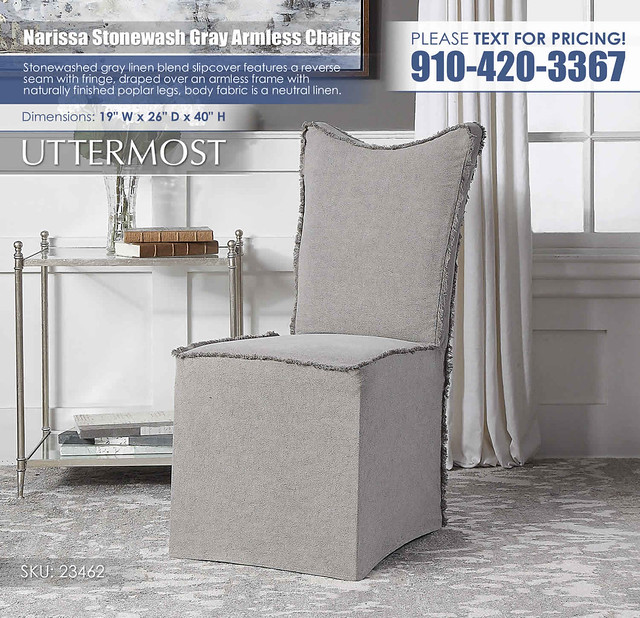 Narissa Stonewash Gray Armless Chairs_Uttermost_23462