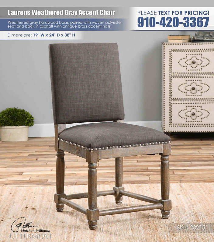Laurens Weathered Gray Accent Chair_Uttermost_23215_Text