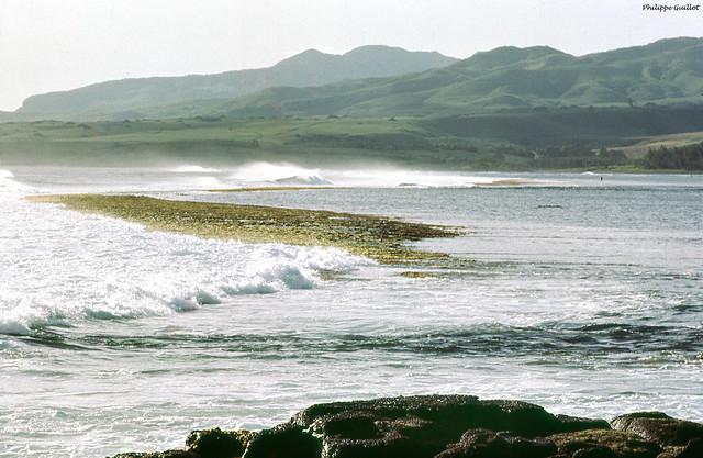 La côte Sud de Maurice vue de la pointe aux Roches