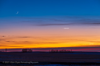 Waxing Moon, Mercury and Jupiter (with Labels) | by Amazing Sky Photography