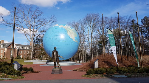 Babson Globe in winter