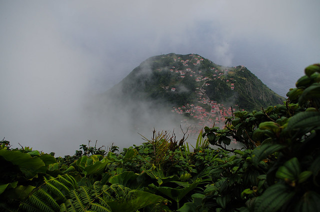 View From Mount Scenery Saba