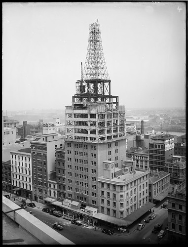 The construction of the AWA Building and Tower 19 October 1938 by Arthur Foster | by State Library of New South Wales collection