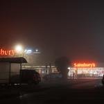 Foggy morning at Sainsbury's