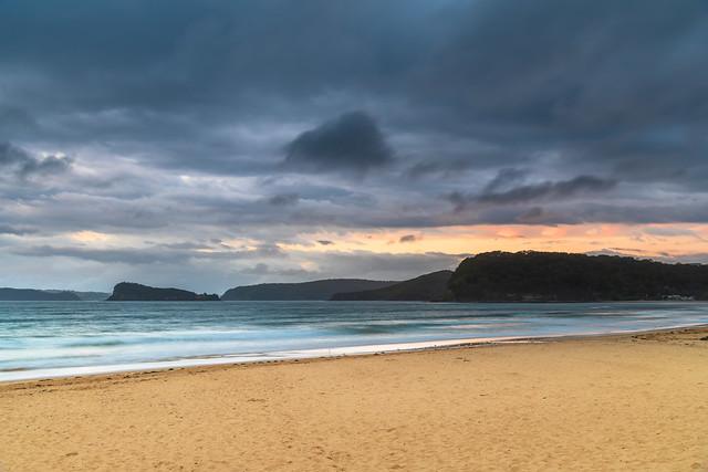 Overcast Summer Sunrise at the Beach