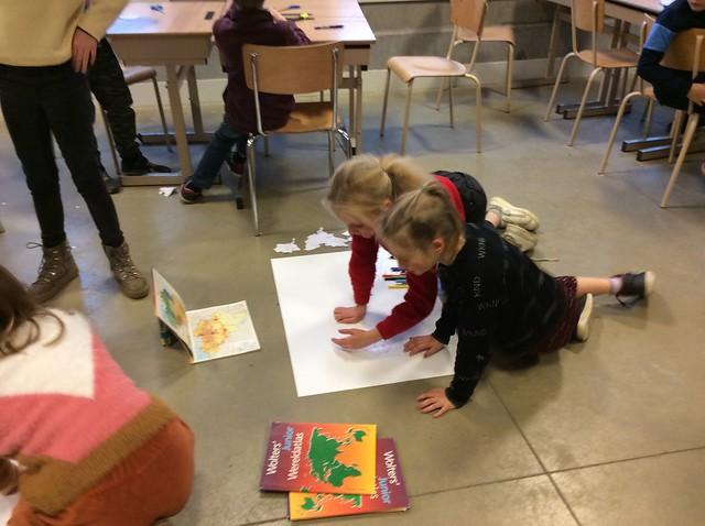 Klas 4: Groepswerk De kaart van België.