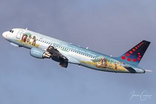 Airbus A320-214 – Brussels Airlines – OO-SNE – Brussels Airport (BRU EBBR) – 2020 01 29 – Takeoff RWY 25R – 03 – Copyright © 2020 Ivan Coninx