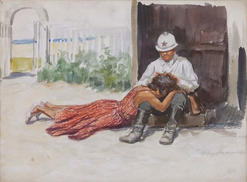 Иван Владимиров. 1926. Анапа. Дежурство на пляже.