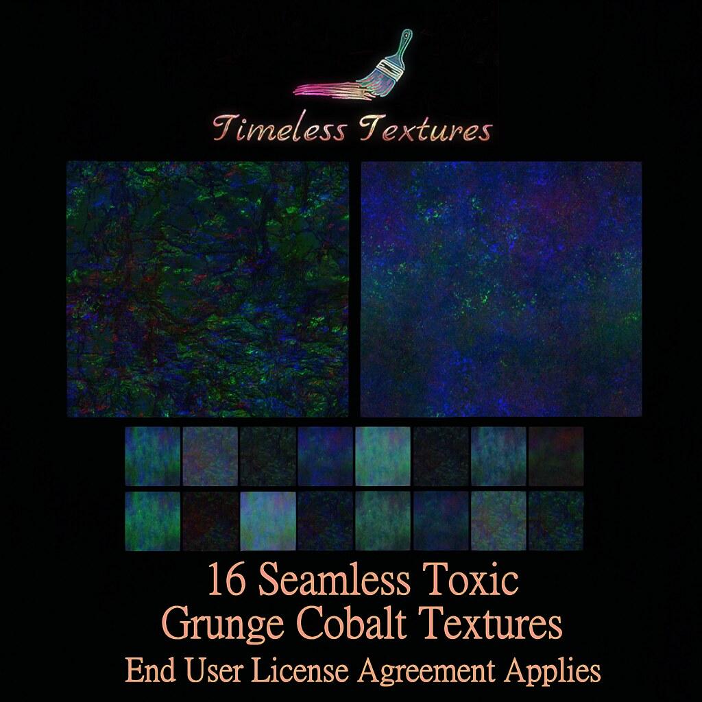 TT 16 Seamless Toxic Grunge Cobalt Timeless Textures