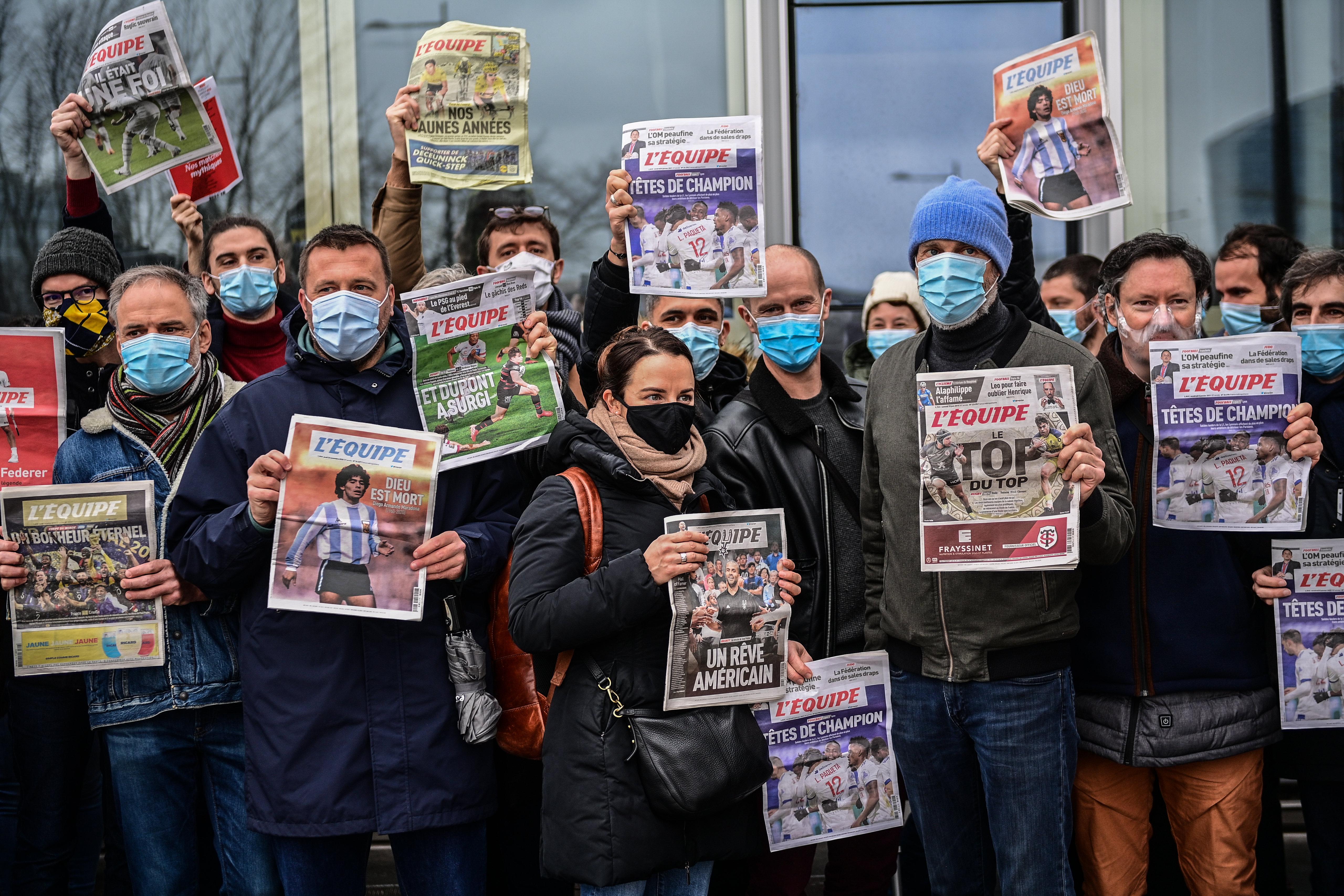 FRANCE-MEDIA-L'EQUIPE-STRIKE