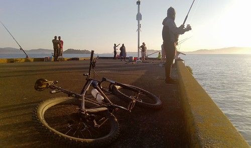 <p>Petone Wharf is a great place to chill after the backyard loop on the bike. There's always some fish being caught, and some weather going on.</p>