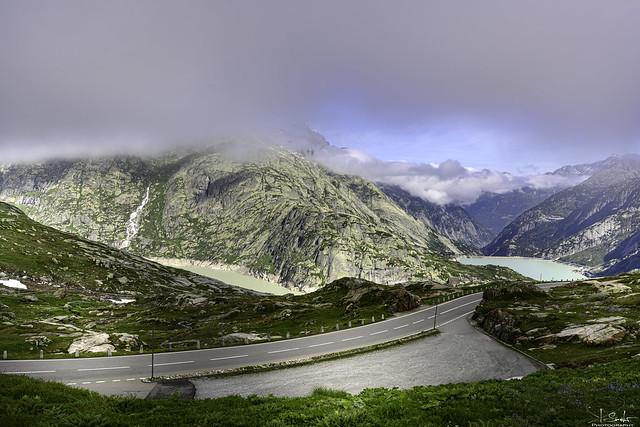 Morning view from Grimselpass - Wallis - Switzerland
