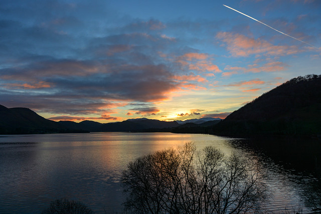 Sunset over Ullswater - Explored