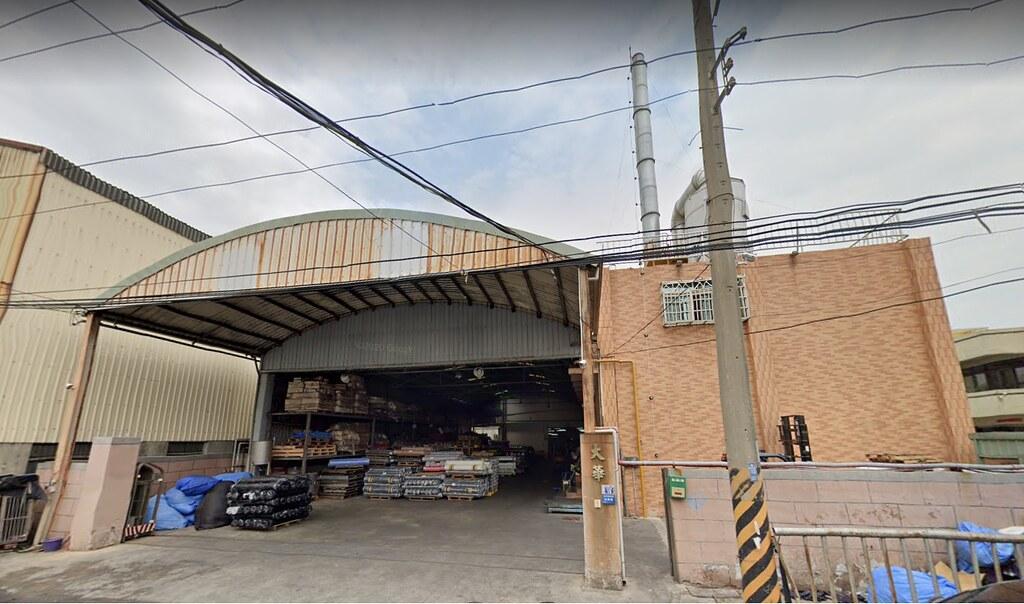 大華上膠廠位於台中市梧棲區。圖片來源:Google Map