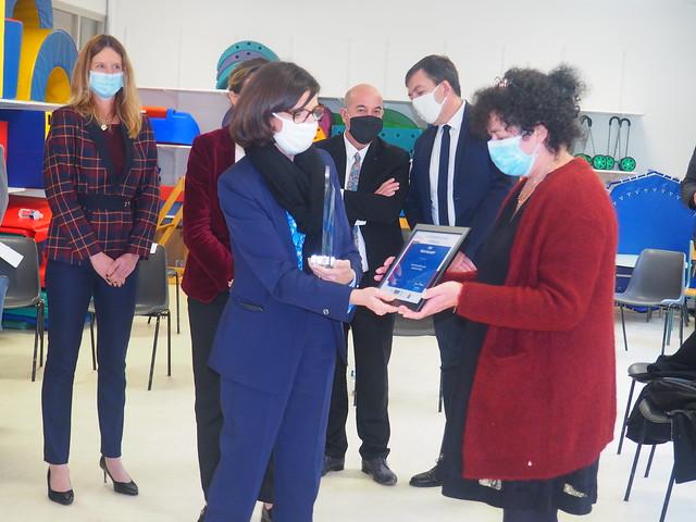 Visite officielle de la secrétaire d'Etat à l'éducation prioritaie Nathalie Elimas - 17/12/2021