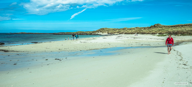 The beaches of Sanna Bay and elsewhere on the Ardnamurchan peninsula are nothing short of spectacular. The beaches are pure white shell-sand.