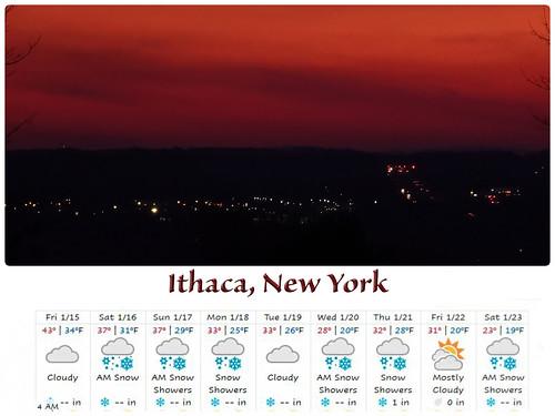 weather weatherundergroundforecast sunrise morning ithacany cayugalakevalley lookingeast polarvortex