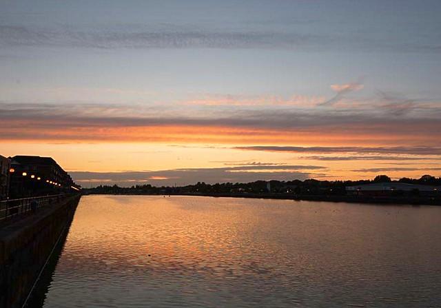 Dusk at Preston Docks