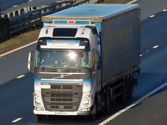 Knights Of Old, Volvo FH (GN69XKV) On The A1M Southbound