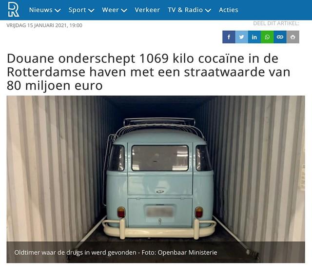 80 miljoen aan drugs gevonden in een 1500 kombi