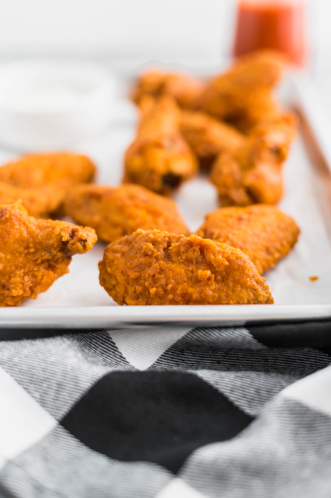 These Copycat Hooters Buffalo Wings are just what you need for the big game. Super crispy with the best buffalo sauce.