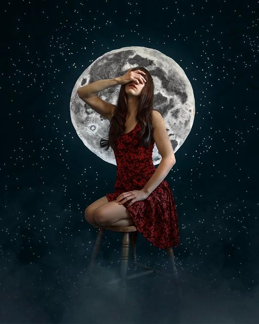Être dans la lune