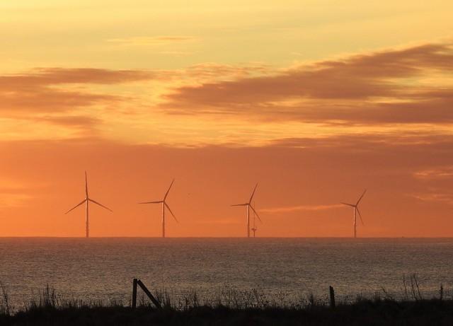 Wind Turbines off Cresswell Beach