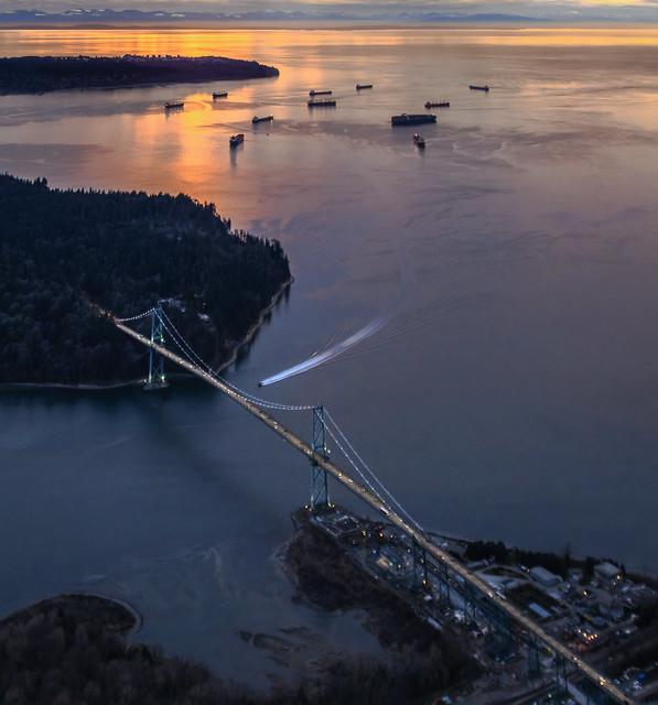 Lions Gate Bridge twilight 2021