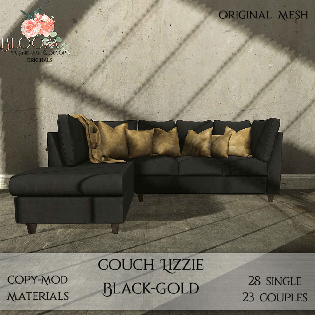 Bloom! – Couch Lizzie black GoldAD