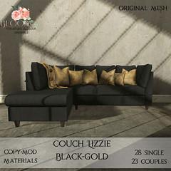 Bloom! - Couch Lizzie black GoldAD