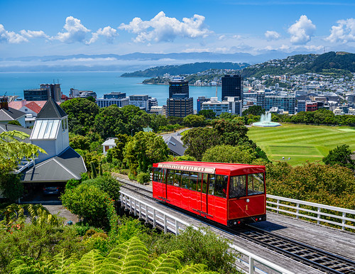 <p>.... this funicular railway leads to the top of the city's Botanic Gardens where panoramic views of Wellington's Harbour and surrounding Mount Victoria (on the right) provide photo ops</p>