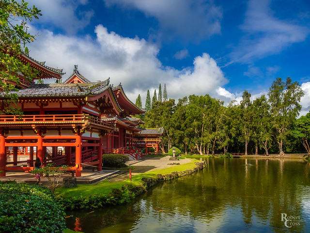 Wild Skies Over Byodo-In