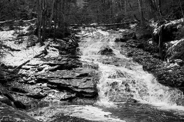 The raging waterfall at Mount Moosilauke
