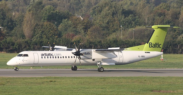air Baltic, YL-BBU, MSN 4439, De Havilland Canada DHC8 402Q, 04.10.2014, HAM-EDDH, Hamburg