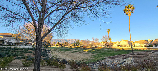 Beautiful winter's day walking around the country club. Banning CA