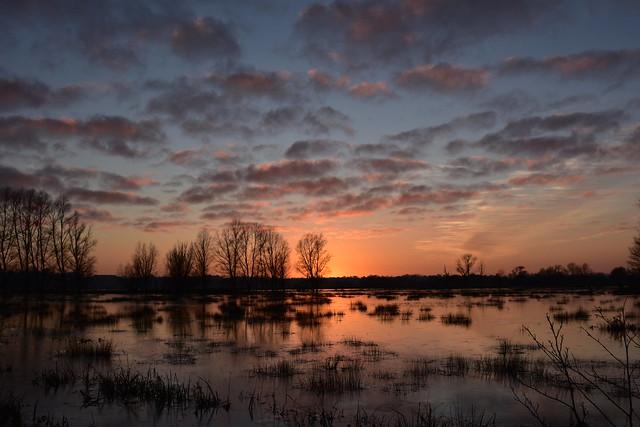 Waveney Valley sunset.