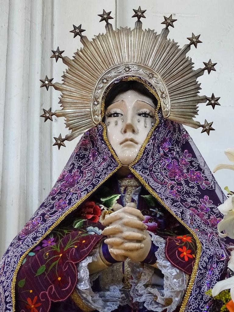 Sculpture of the Virgin - Zinacantan - Chiapas - Mexico