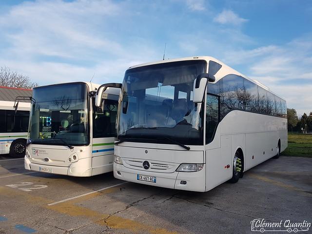 MERCEDES-BENZ Tourismo M - 126027 / Keolis Gironde |&| HEULIEZ GX 337 - 169013 / Keolis Cars de Bordeaux