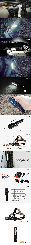 錸特光電 台灣總代理 ACEBEAM PT40 3000流明 工作燈 L型 頭燈 EDC手電筒