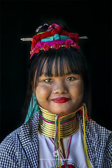 Kayan Lahwi Girl with Neck Rings