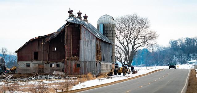 Wisconsin Barn Demolition
