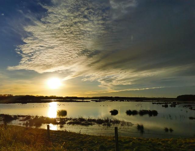 Druridge Wetlands - Cloudscape at Sunrise