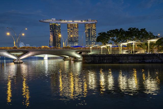 Esplanade Bridge & Marina Bay Sands Reflections