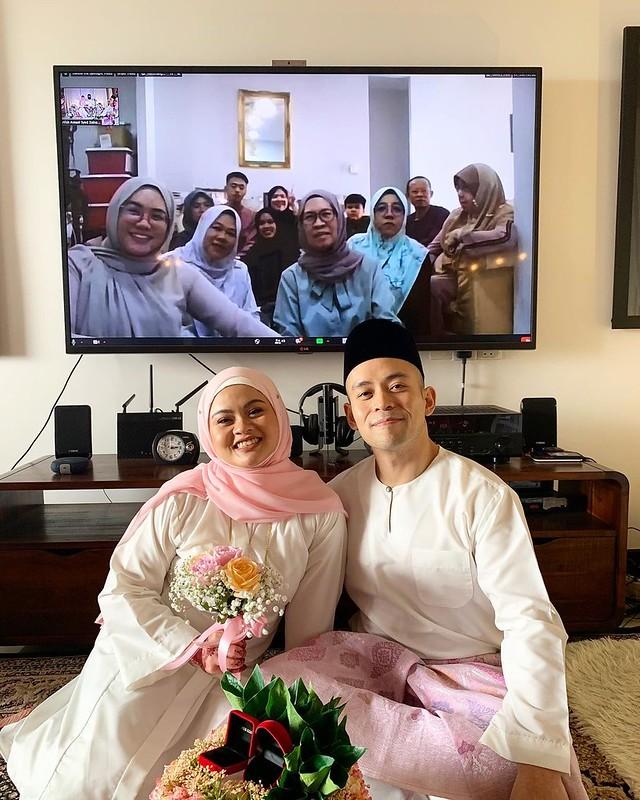 Sharifah Aryana &Amp; Suami Selamat Bernikah
