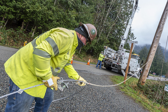 Outage restoration efforts throughout Whatcom County