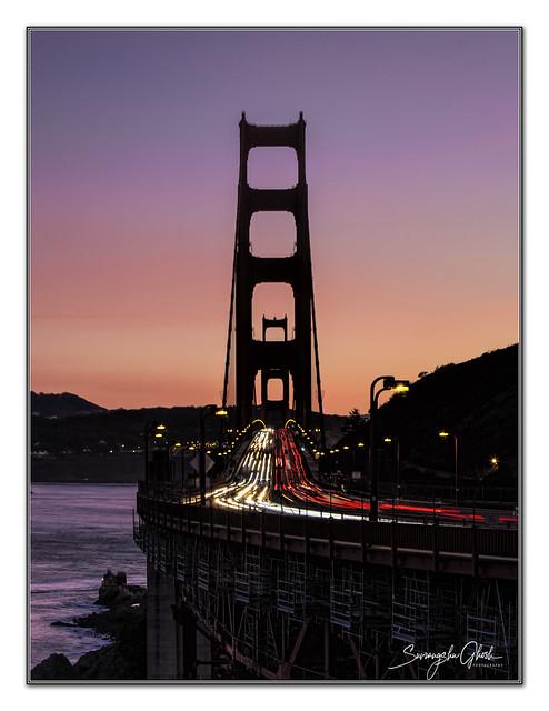 Golden gate at dusk, San Francisco
