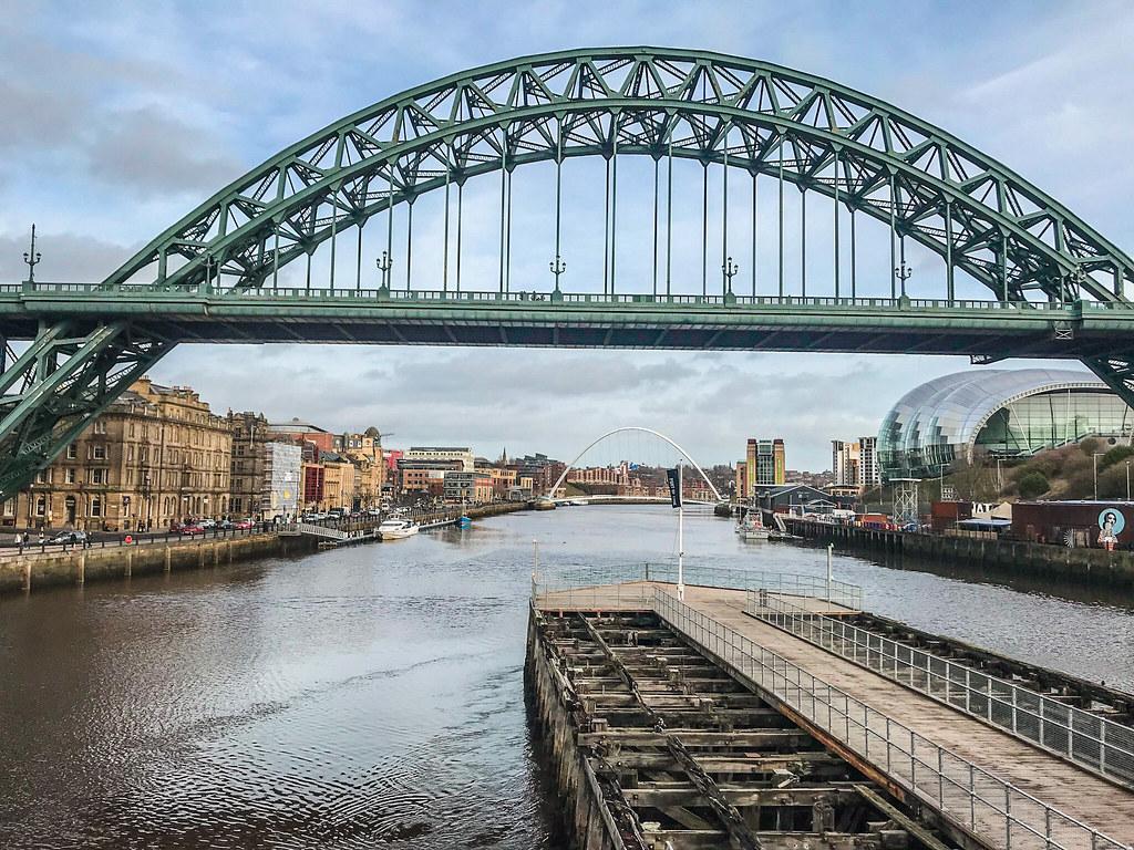 Tyne Bridge from the Swing Bridge