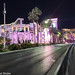 An empty Las Vegas blvd on very quiet walk along the strip. Las Vegas Nevada